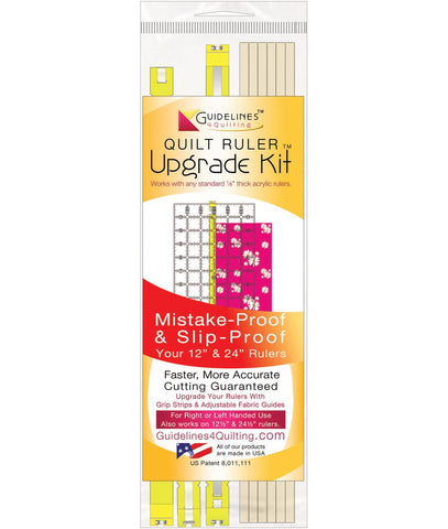 Quilt Ruler Upgrade Kit with Grip Strips + Fabric Guides