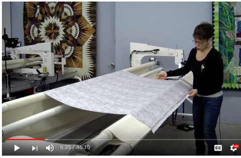 How to use a Longarm Quilting Machine Video