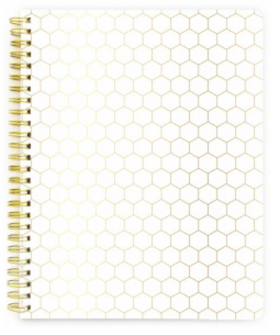 Gold Honeycomb - Lined Pages - Spiral Notebook