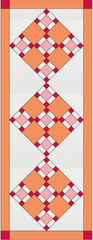 Quilt 7 of 50 Sorbet Squares Runner Fabric Kit