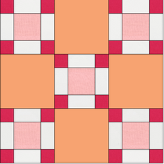 Block 7 of 50 Sorbet Squares Fabric Kit