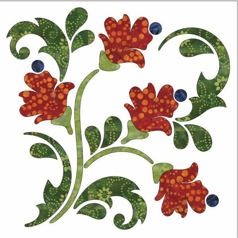 Blossoms - Block - Fall - Applique