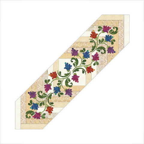 Blossoms Braided - Table Runner - Applique