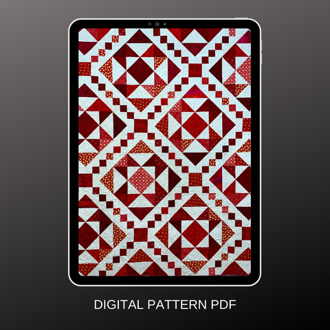 Two Colour PDF Quilt Pattern - Candy Box Quilt by Bradie Sparrow