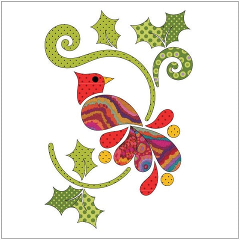 Christmas Cardinal - Dotz - Applique Set