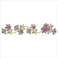 Daisy Dotz - Gray / Purple - Table Runner / Panel