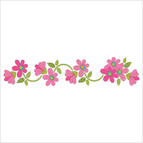 Daisy Dotz - Pink - Table Runner / Panel