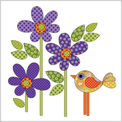 Daisy Dotz Quilt - Small - Violet - Applique