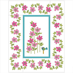 Daisy Dotz Quilt - Large - Pink - Applique