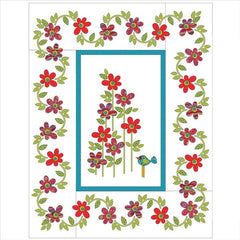 Daisy Dotz Quilt - Large - Red - Applique