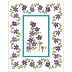 Daisy Dotz Quilt - Large - Violet - Applique