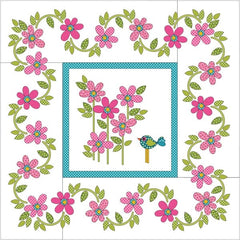 Daisy Dotz Quilt - Medium - Pink - Applique