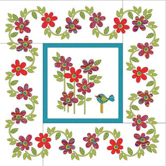 Daisy Dotz Quilt - Medium - Red - Applique
