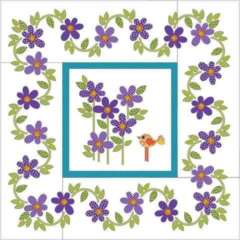 Daisy Dotz Quilt - Medium - Violet - Applique