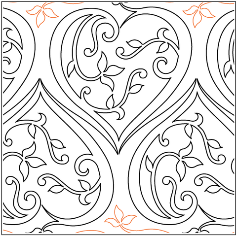 Filigree paper hearts
