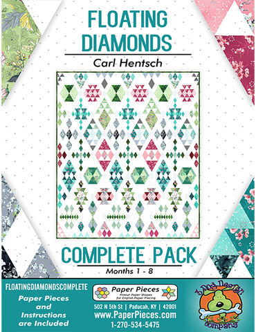 Floating Diamonds Quilt Along Complete Pack and Pattern by Carl Hentsch