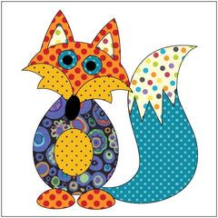 Frisky Fox - Blue Dotz - Applique