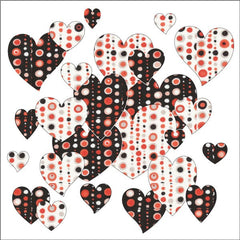 Bohemian Chic - Hearts - Black and White - Applique