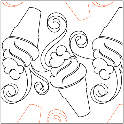 Ice cream cone swirl