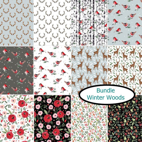 Winter Woods 12 Fat Quarter Bundle