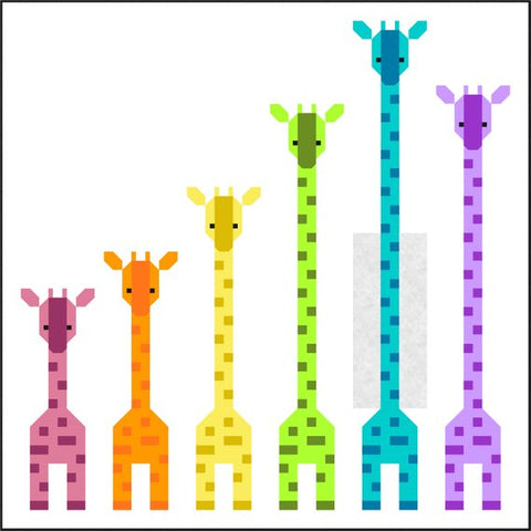Giraffes in a Row Quilt Pattern - By Sew Fresh Quilts