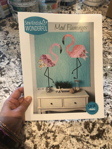 Mod Flamingos Pattern - Sew Kind of Wonderful
