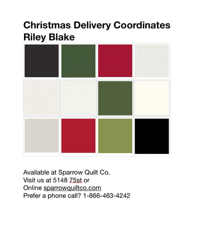 Christmas Delivery Coordinates 12 Fat Quarter Bundle by Riley Blake