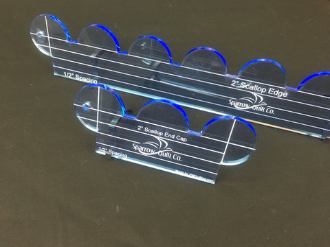 2 inch Scallop Ruler Set