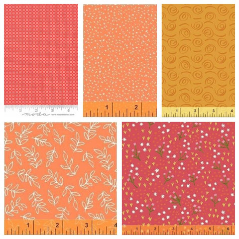 Bradie's Choice Five Piece Fabric of the Month Club