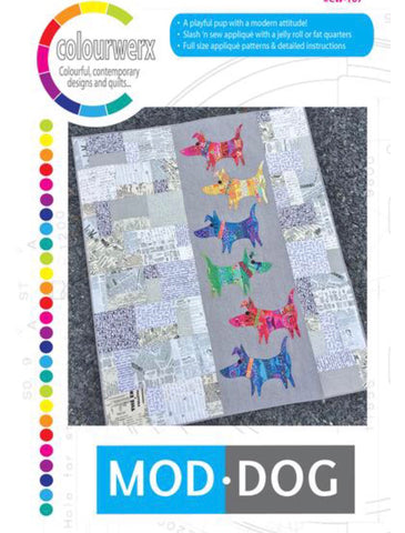 ModDog Quilting Pattern by Colourwerx