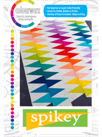 Spikey Quilt Pattern by Colourwerx