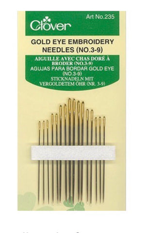 Clover Embroidery Needles Assorted Sizes 3-9