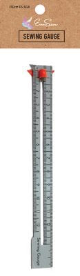 EverSewn Seam Gauge Ruler with Sliding Marker