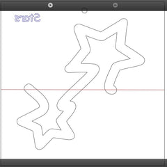 Mini Stars Domestic Quilting Template For 1/4 Inch Foot