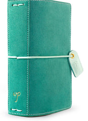 Aspen Green Suede Pocket Traveler Planner
