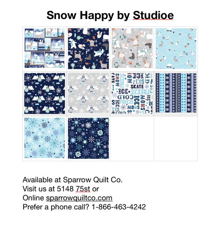 Snow Happy by Studio e 10 Fat Quarter Bundle