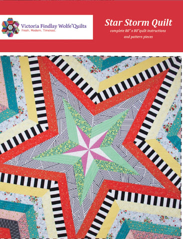 Star Storm - Victoria Findlay Wolfe Quilting Pattern