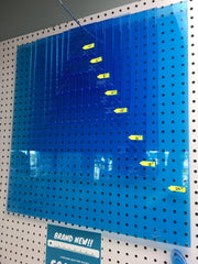 "12"" Squaring Ruler - True Blue Glow Edge Acrylic"