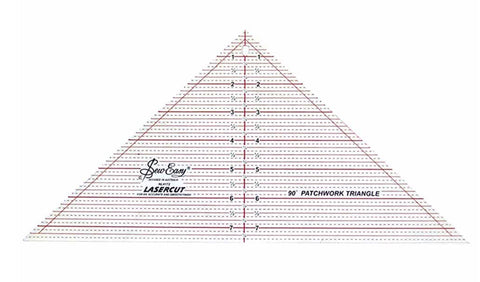 90 Degree Triangle Ruler 7.5 x 15