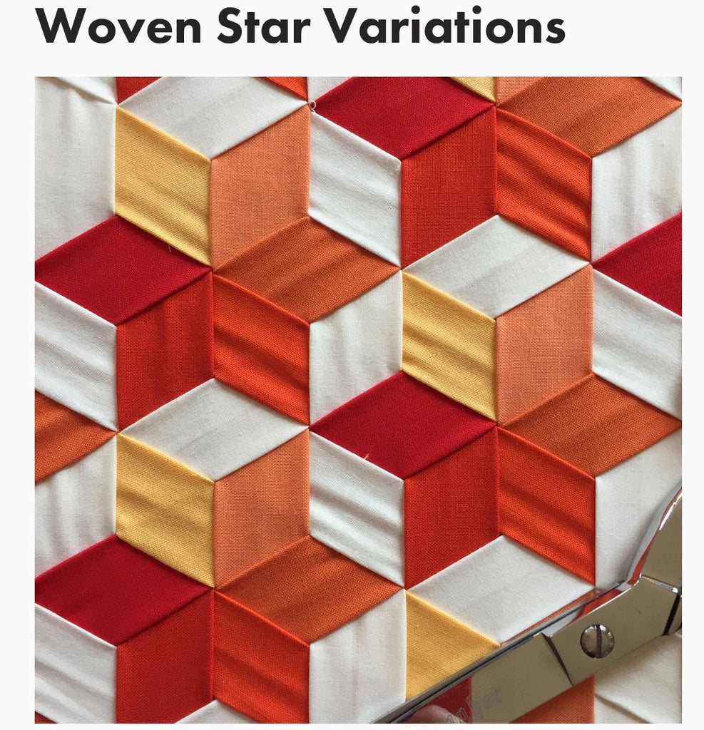 Wefty Woven Stars Pattern Sparrow Quilt Co