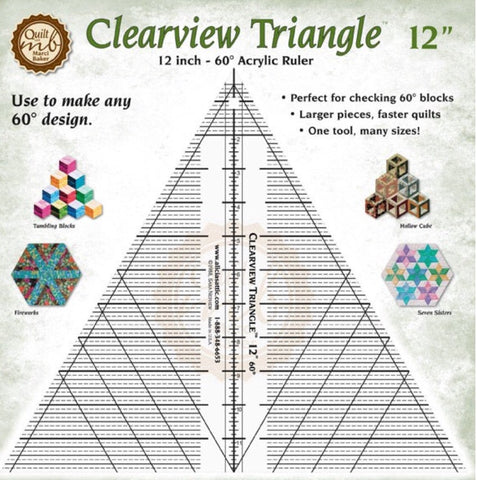 12 inch Clearview Triangle Ruler