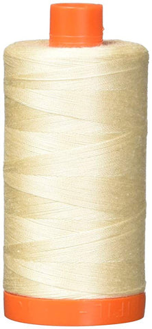 Aurifil Light Sand 50 wt Cotton Thread