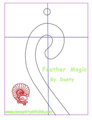 Mini Feather Magic Domestic Quilting Template For 1/4 Inch Foot