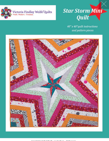 Star Storm Mini Quilt - Victoria Findlay Wolfe Quilting Pattern
