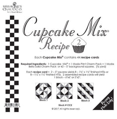 Cupcake Mix Recipe Cards for Charm Packs