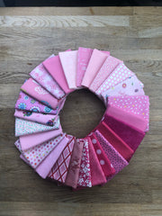 Pink Fat Quarter Bundle - 25 Pieces