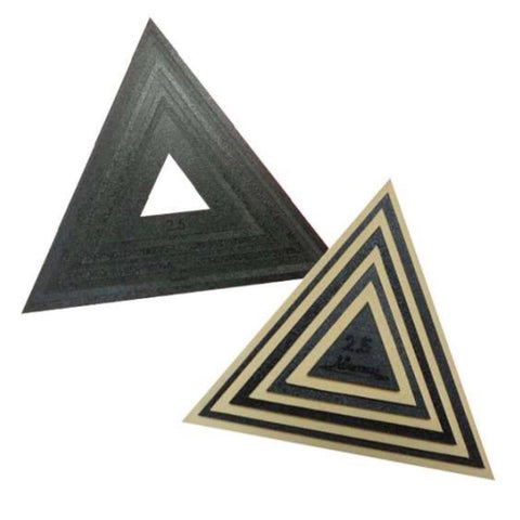 8 Triangle Templates and Fussy Cut Windows (2.5 - 9.5 inch)