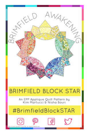 "Baby Brimfield Star Acrylic Fabric Cutting Templates (3 Piece Set) with 3/8"" Seam Allowance"