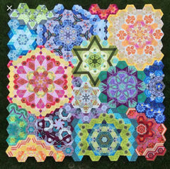 Rosette Complete Pack Months 1 - 12 for The New Hexagon Millefiore Quilt-Along