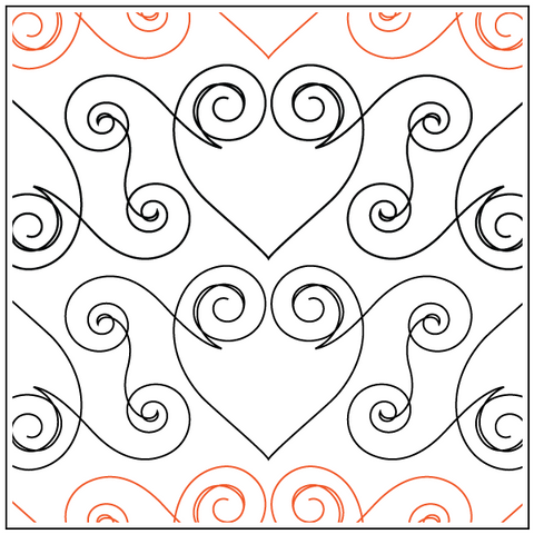 Jessica's Swirly Heart - Border